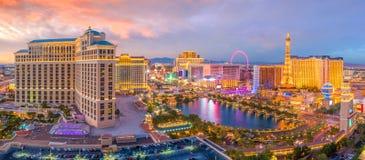 Vue aérienne de bande de Las Vegas au Nevada photos stock