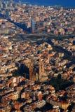Vue aérienne de Barcelone Images libres de droits