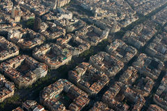 Vue aérienne de Barcelone Photo stock