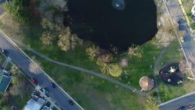 Vue aérienne de base-ball récréationnel de champs banque de vidéos