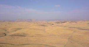 Vue aérienne de bassin de sel de Death Valley banque de vidéos