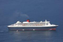 Vue aérienne de bateau de croisière Photographie stock