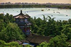 Vue aérienne de beau palais d'été Images stock