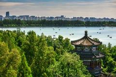 Vue aérienne de beau palais d'été Photos libres de droits