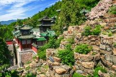 Vue aérienne de beau palais d'été Image stock