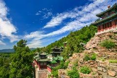 Vue aérienne de beau palais d'été Photographie stock