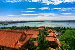 Vue aérienne de beau palais d'été Photos stock