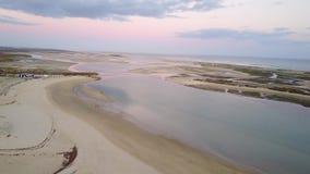 Vue aérienne de belle Ria Formosa dans Algarve, Portugal banque de vidéos