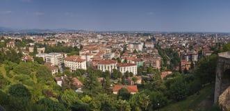 Vue aérienne de Bergame Photographie stock libre de droits