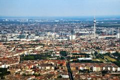Vue aérienne de Berlin photos libres de droits