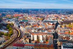 Vue aérienne de Berlin photographie stock libre de droits