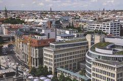 Vue aérienne de Berlin Photos stock