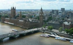 Vue aérienne de borne limite de Londres, R-U Images libres de droits