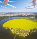 Vue aérienne de bourdon Photos libres de droits