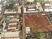 Vue aérienne de bourdon de niarela Quizambougou Niger Bamako Mali photos libres de droits