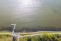 Vue aérienne de bourdon de Telsiai, Lithuanie photo stock