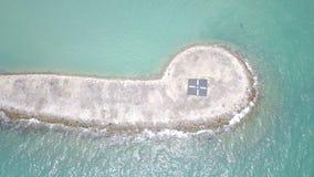 Vue aérienne de briseur de l'eau Image stock