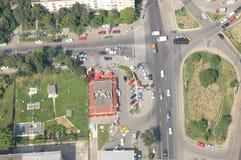 Vue aérienne de Bucarest images libres de droits