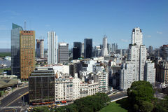 Vue aérienne de Buenos Aires du centre Images stock