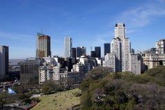 Vue aérienne de Buenos Aires du centre Image libre de droits