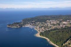 Vue aérienne de côte de soleil images stock
