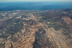 Vue aérienne de côte de Ventura County et de parc national des Îles Anglo-Normandes image stock