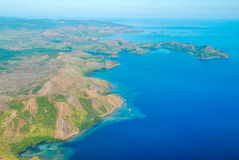 Vue aérienne de côte photographie stock libre de droits