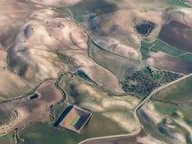 Vue aérienne de campagne de la Sicile Image stock