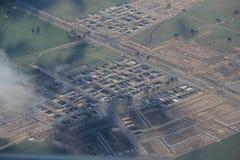 Vue aérienne de campagne de Melbourne Photos stock