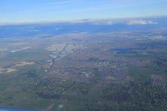 Vue aérienne de campagne de Melbourne Photographie stock libre de droits