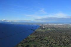 Vue aérienne de campagne de Melbourne Image libre de droits