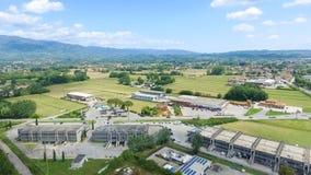 Vue aérienne de campagne de Lucques, Toscane Image libre de droits