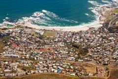 Vue aérienne de Capetown photo libre de droits
