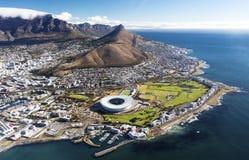 Vue aérienne de Capetown Photographie stock