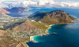Vue aérienne de Capetown Photo stock
