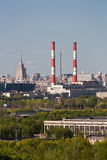 Vue aérienne de capitale de Moscou, Russie Photographie stock libre de droits