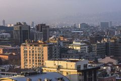 Vue aérienne de capitale de la Turquie Ankara est la capitale de la Turquie, ville d'affaires Image libre de droits