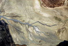 Vue aérienne de caractéristique géographique espagnole images libres de droits