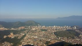 Vue aérienne de Caraguatatuba photos libres de droits