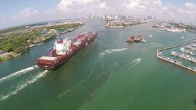 Vue aérienne de cargo clips vidéos