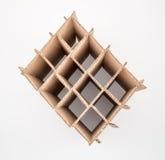 Vue aérienne de carton vide de vin images stock