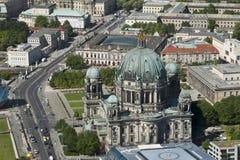 Vue aérienne de cathédrale Berlin Photographie stock libre de droits