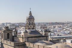 Vue aérienne de cathédrale Espagne de Séville images stock
