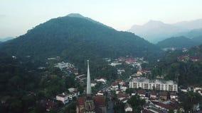 Vue aérienne de cathédrale de Petropolis banque de vidéos