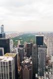 Vue aérienne de Central Park Image libre de droits