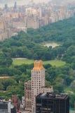 Vue aérienne de Central Park Photo libre de droits