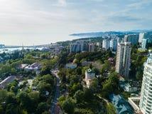 Vue aérienne de centre de la ville Photo stock