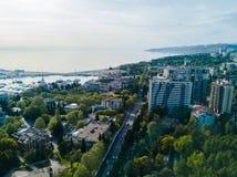 Vue aérienne de centre de la ville Photos libres de droits