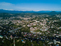 Vue aérienne de centre de la ville Images stock
