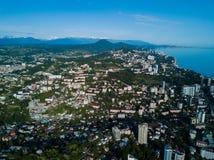 Vue aérienne de centre de la ville Photo libre de droits